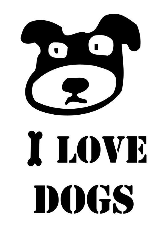 I LOVE DOGS Canvas Print