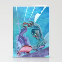 Zombies and Skateboards Stationery Cards