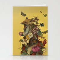 birthday Stationery Cards featuring Fox Confessor by Lindsey Carr