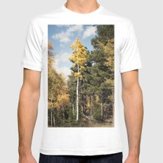 Skinny Aspen Mens Fitted Tee White SMALL