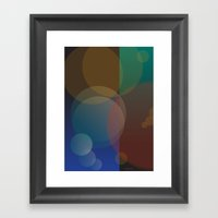 Interaction Of Bubbles -… Framed Art Print