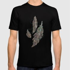 Feather Detail SMALL Black Mens Fitted Tee