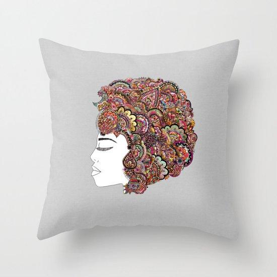 Her Hair - Les Fleur Edition Throw Pillow