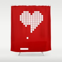 Arknoid Heart Shower Curtain