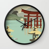 Kaiju Travel Poster Wall Clock