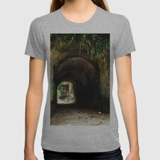Old tunnel 2 Womens Fitted Tee Athletic Grey SMALL