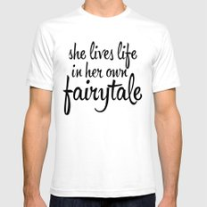 FAIRYTALE Mens Fitted Tee SMALL White