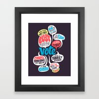 Vote! Framed Art Print