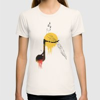 ADARNA Womens Fitted Tee Natural SMALL