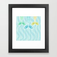 Mermaids and Stripes Framed Art Print
