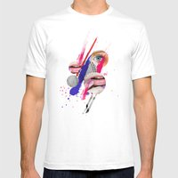 LILLY Mens Fitted Tee White SMALL