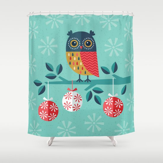 WOOHOO ITS CHRISTMAS Shower Curtain By Daisy Beatrice