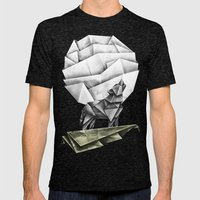 Wolfpaper Mens Fitted Tee Tri-Black SMALL