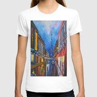 eiffel T-shirts featuring Eiffel Tower Street by ArtSchool