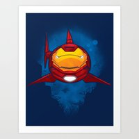 Tony Shark Art Print