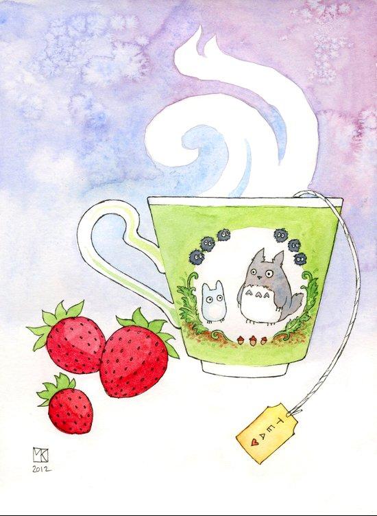 Totaro Cup Art Print