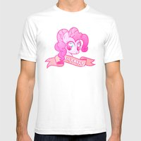 GRUNGE Pinkie Pie Mens Fitted Tee White SMALL