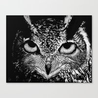 My Eyes Have Seen You (Owl) Canvas Print