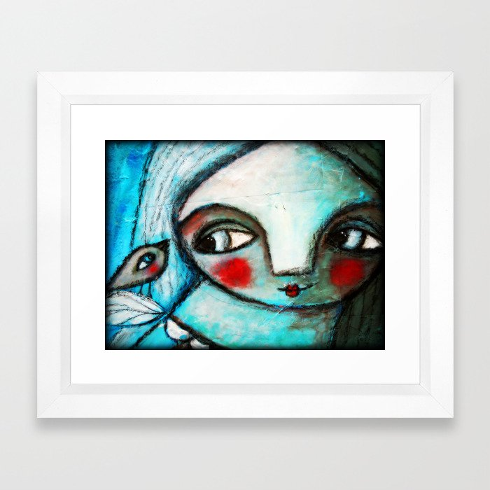 Little Friends detail Framed Art Print