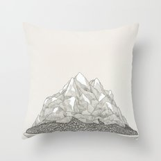 The Mountains and the Woods Throw Pillow