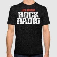 Los Santos Rock Radio Mens Fitted Tee Tri-Black SMALL