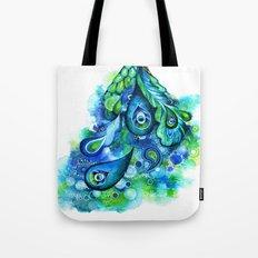 Abstract Peacock Tote Bag