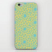 Geometric Vintage Blue/o… iPhone & iPod Skin