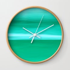 Abstract May II turquoise Wall Clock