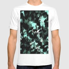 Abstract 26 Mens Fitted Tee White SMALL