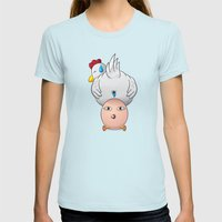 reborn Womens Fitted Tee Light Blue SMALL