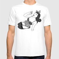 Eat Me Mens Fitted Tee White SMALL