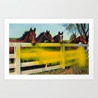 Untitled (Horses) Art Print