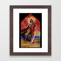 STAR WARS Stained Glass … Framed Art Print