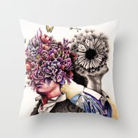 Optimist/Pessimist Throw Pillow