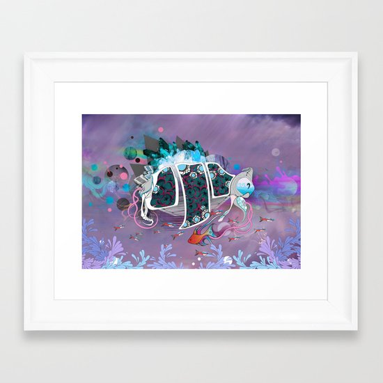 Old Elsie and the Storm Framed Art Print