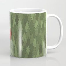 564 green pines and a red house  Mug