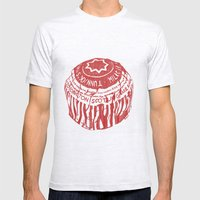 Tea Cake pen drawing (red) Mens Fitted Tee Ash Grey SMALL