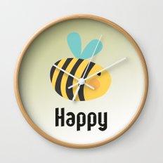 Bee Happy Wall Clock
