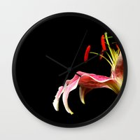 lone lily Wall Clock