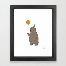 Bear Party Framed Art Print
