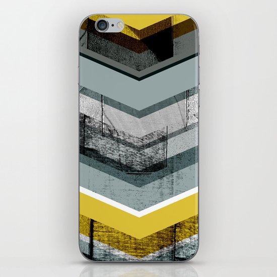 Grey & Yellow Chevron iPhone & iPod Skin