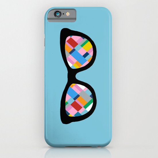 Map 45 Glasses on Sky Blue iPhone & iPod Case