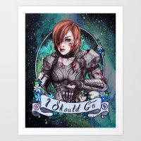 I Should Go (color) Art Print