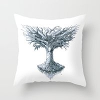 The Tree of Many Things Throw Pillow