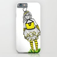 iPhone & iPod Case featuring The BumbleBee Girl  by Martin Whelan