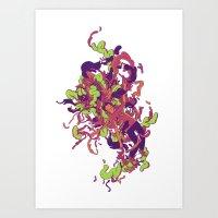 Headspace 03 - Green Art Print