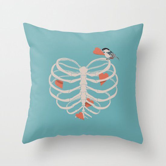 The Heart Collector Throw Pillow