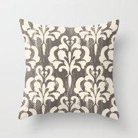 Damask1 Throw Pillow
