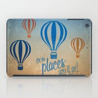 Oh, the Places You'll Go - Blue & Gold iPad Case