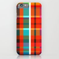 iPhone & iPod Case featuring Madras Bright Check by Simi Design
